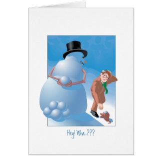 雪玉の驚き カード