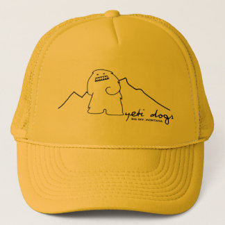 雪男の単独ピークトラック運転手の帽子(暗いロゴ) キャップ