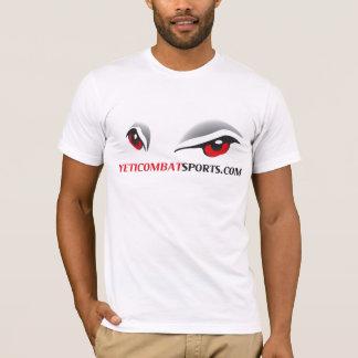 雪男の戦闘のスポーツロゴのTシャツ Tシャツ