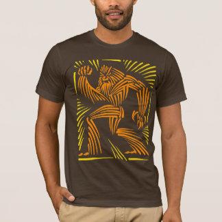 雪男の木版画のグラフィック Tシャツ