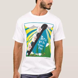 雪男は天国に行きますも! Tシャツ