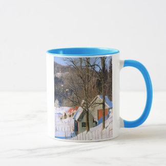 雪覆ハウスのマグ マグカップ