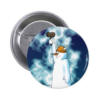 雪解けボタン 5.7CM 丸型バッジ