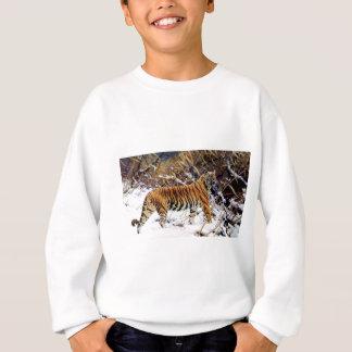 雪野生猫のトラ スウェットシャツ