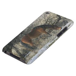 雪1の野生のムスタングの馬 Case-Mate iPod TOUCH ケース