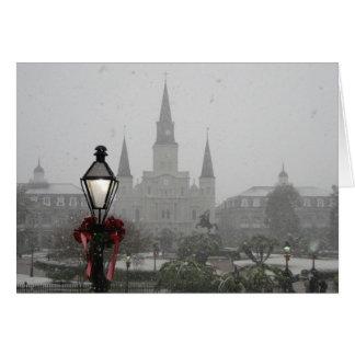 雪2008年のニュー・オーリンズのカテドラル カード
