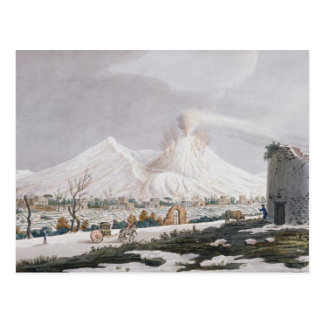 雪、「カンピPhlegraeiからのプレートVのVesuvius: O ポストカード