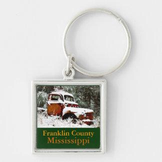 雪-フランクリン郡、Mississipの旧式なトラック キーホルダー