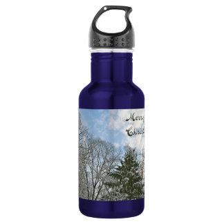 雪-メリークリスマスの木 ウォーターボトル