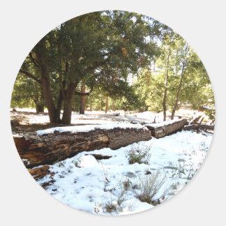 雪|床 丸形シールステッカー