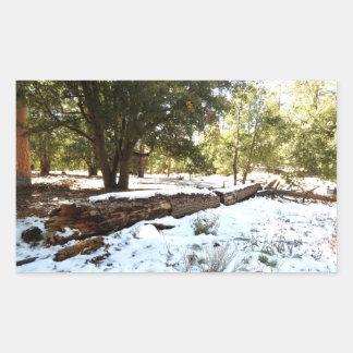 雪 床 長方形シールステッカー