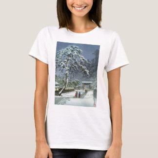 雪- Kawase Hasuiの川瀬巴水のHonmonjiの寺院 Tシャツ