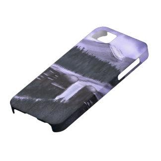 雪iPhone5カバーとのすみれ色夜 iPhone SE/5/5s ケース