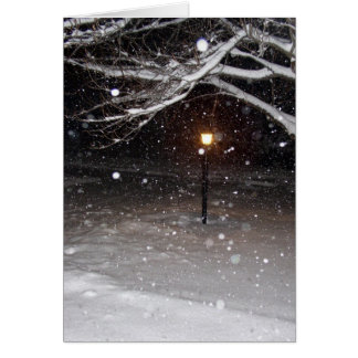 雪Notecardの街灯柱 カード