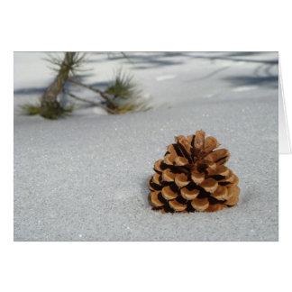 雪NotecardのPinecone カード