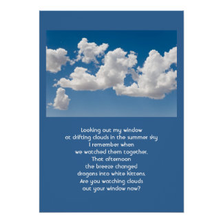 雲および空 ポスター