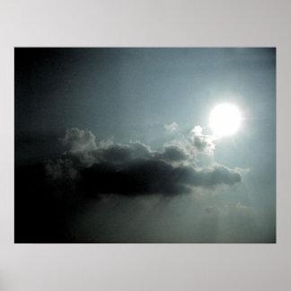 雲が付いている太陽 ポスター