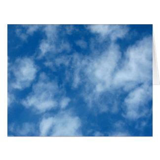 雲が付いている青空 カード