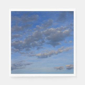 雲が付いている青空 スタンダードランチョンナプキン