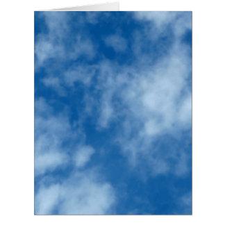 雲が付いている青空 ビッググリーティーングカード