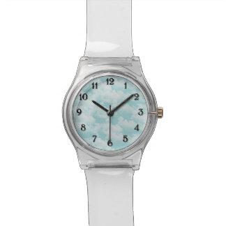 雲が付いている青空 腕時計