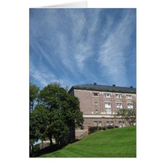 雲が付いているAmos Eatonの建物 カード