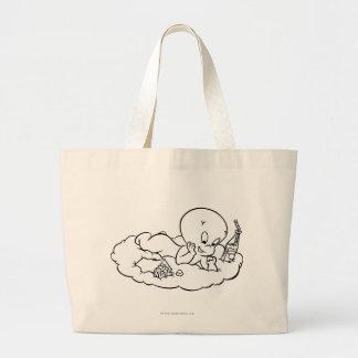 雲でSnackingキャスパー ラージトートバッグ