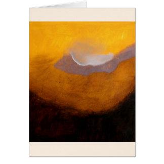 雲との抽象的な風景画 カード