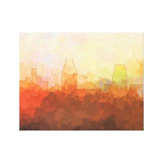 雲のキャンバスのキャムデン、ニュージャージーのスカイライン キャンバスプリント