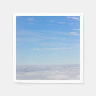雲のナプキンの上 スタンダードカクテルナプキン