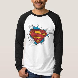 雲のロゴ内のスーパーマンのS盾| Tシャツ
