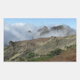 雲の上のマデイラは、カスタマイズ 長方形シール