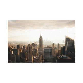 雲の下のニューヨーク キャンバスプリント