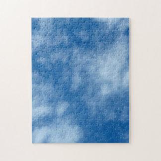 雲の写真が付いている青空 ジグソーパズル