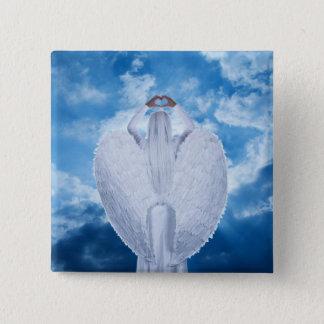 雲の天使 5.1CM 正方形バッジ