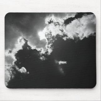 雲の明るい兆候で望んで下さい マウスパッド