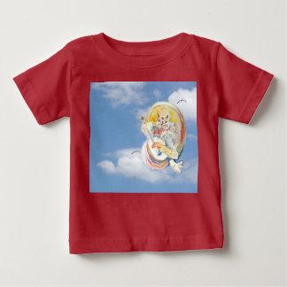 雲の猫音楽 ベビーTシャツ