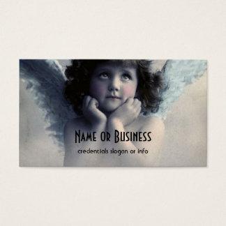 雲の甘いバラ色のCheekedのヴィンテージの天使 名刺