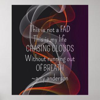 雲の生命引用文のvapeポスターの追跡 ポスター