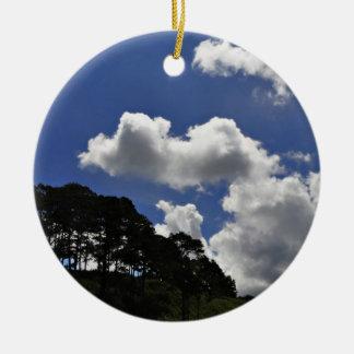 雲の空の景色の自然 セラミックオーナメント
