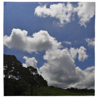 雲の空の景色の自然 ナプキンクロス