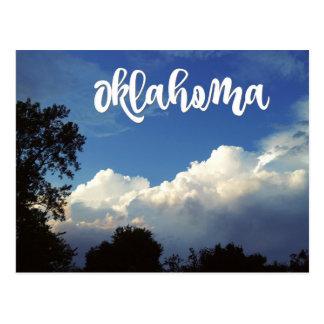 雲の郵便はがきが付いているオクラホマの青空 ポストカード