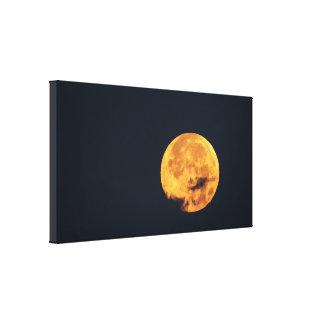 雲の金月 キャンバスプリント