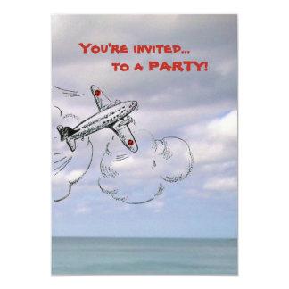 雲の飛行機の招待状|のジェット機 カード