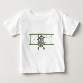 雲の飛行機 ベビーTシャツ