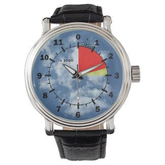 雲の高度計 腕時計