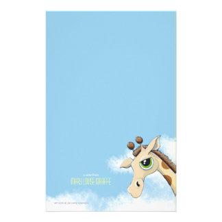 雲のPersonalizableのノート紙のキリン 便箋