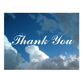 雲は感謝していしています ポストカード