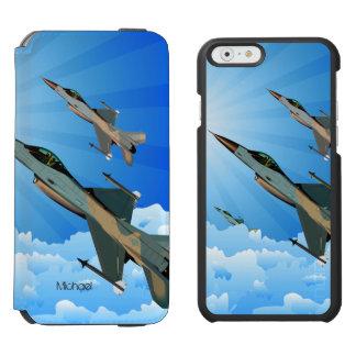 雲への空軍F-16戦闘機のチーム飛行 INCIPIO WATSON™ iPhone 5 財布型ケース