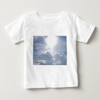雲を照らすMatthewの6:33 ベビーTシャツ